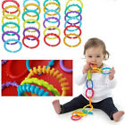 Внешний вид - Baby Kids Colorful Teether Ring Link Plastic Infant Stroller Gym Play Mat Toys