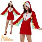 Ladies Parrot Costume Tropical Birds Animal Womens Adults Fancy Dress Outfit