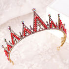 Vintage Wedding Bridal Baroque Red Blue Crystal Pageant Headband Crown Tiara Hot