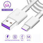5A USB Type C Fast Charging Charger Cable for Samsung S10e S8 S9 S10 Plus/Huawei