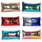 Double Color Sequins Pillow Case Reversible Glitter Bed Cushion Cover Home Decor image