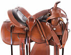 Trail Saddle Used 15 16 17 18 Western Premium Hand Carved Leather Horse Tack Set