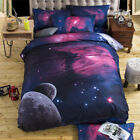 3D Galaxy Bedding Set Universe Outer Space Duvet Cover Pillowcases  image