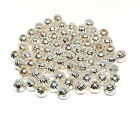silver plated 5mm corrugated round beads