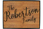Funny Doormat Novelty Door Mat Birthday Home Office - the family robertson