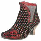 Laura Vita Candice 22 Womens Red Multicolour Suede Ankle Boots