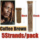 UK Brown Handmade Hair Dreads Afro Short Reggae Braids Crochet Hair Extension KB