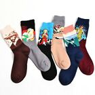 New Fashion Cotton Art Pattern 3d Painting Novelty Design Funny Crew Socks