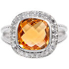 Natural Golden Citrine 925 Sterling Silver Ring Jewelry Size 6-9 DGR6015_A