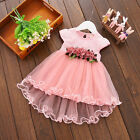 US Baby Girl Kids Party Tutu Dress Pageant Wedding Birthday Princess Christening