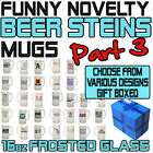 Funny Beer Stein Frosted Glass Novelty Pint 16oz Birthday Gift - SUPER BG3