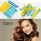 12pcs 25-65cm Magic Curlers Wave Water Long Hair Curler Spiral Hairdressing Tool