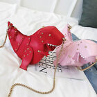 Crossbody Shoulder Bag Girl Handbag Women 3D T-Rex Triceratops Dinosaur Rivet