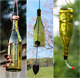 Yellow and Copper Bird Feeder and Wind Chime Set - Gifts for Mom - Deck Decor photo