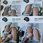 1 Pair Black Solid Hollow Out Plain Pantyhose Mesh Fishnet High Stockings Tights