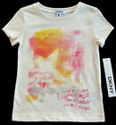 NWT DKNY Girls Off-White Short Sleeve Top Size 2T, 4T NEW