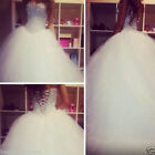 Luxury Crystal Diamond Wedding Dresses Vintage Long Tulle Bling Bridal Ball Gown for sale  Shipping to Nigeria