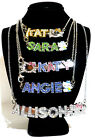 Personalized Necklace Any Name W Gift Box lots of Hello Kitty charms Great Gift image