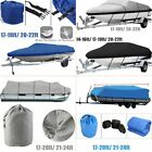 "17"" 20' 22' 24"" Trailerable Fish Ski Boat Cover 600D Waterproof Beam 100 V-Hull"