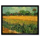 Vincent Van Gogh View Arles With Irises Foreground Painting 12X16 Framed Print