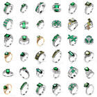 35 Style Women Fashion Jewelry Green Crystal Gemstone Silver Ring Gift Size 6-10, used for sale  Shipping to Canada