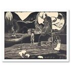 Paul Gauguin French Maruru Thank You Old Painting 12X16 Inch Framed Art Print