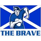 Painting Sport Scotland Rugby Football Flag Brave 12X16 Inch Framed Art Print
