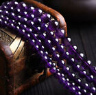 Kyпить Natural 4/6/8/10mm Purple Amethyst Gemstone Round Loose Beads 15'' Strand AAA на еВаy.соm