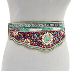 Fanciest Women Waist Belt Wide Elastic Buckle Belt Handmade Ethnic Beaded