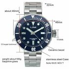 San Martin New Men100ATM Stainless Steel Diving Watch Automatic Watch Sapphire   image