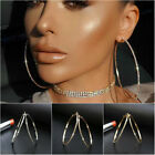 Fashion New Lady Crystal Rhinestone Hoop Round Big Earrings Ear Studs New image