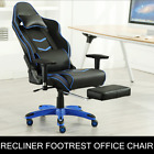 Game Chair Racing Adjustable Executive Computer Office Faux Leather Recliner