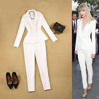 Suits Women Business Formal Office Uniform Style White Work Wear for Lady Custom