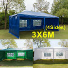 3x3m 3x4m 3x6m Heavy Duty Stronger Gazebo WATERPROOF FULLY Tent with 4 Sides