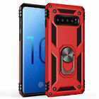 Military Armor Case for Samsung Galaxy S8 S9 S10 Plus Magnetic Ring Holder Cover