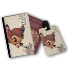 Love Is Song Bambi Thumper Passport Wallet Travel Protection Flip Cover Case