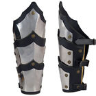 pair bracers Medieval Warrior stainless steel Armor Larp Ren Faire Gothic