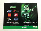 CFB NORTH TEXAS MEAN GREEN UNT NTSU St State Football Schedule PICK FROM LIST