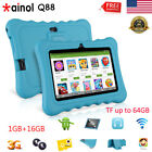 "7"" Tablet Android Quad Core 1+16GB WIFI+3G 2*Camera Bundled Case Learning Pad PC"