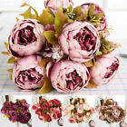 13/21heads Silk Peony Artificial Flowers Wedding Bouquet Home Party Decor Be Uk