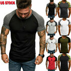 Fashion Men's Slim Fit O Neck Short Sleeve Muscle Tee T-shirt Casual Tops Blouse image
