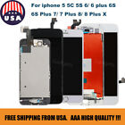 For iphone 5/6/6 Plus/7/X LCD Digitizer Magnificence Touch Screen Replacement Lot AAA