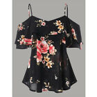 New Women Chiffon Halter Tops Off Shoulder Loose Floral Tops Casual Shirt Blouse <br/> ❤US STOCK ❤FAST DELIVERY ❤EASY RETURN❤High quality