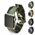 Military Sport Nylon Canvas Fabric Watch Band Strap Fr Apple Watch SERIES 3 38mm