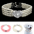 Rhinestone Dog Pet Puppy Pearl Collar Necklace Pendant Accessories for Chihuahua