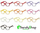 Glasses Frames Coloured Man Woman with Clear Lens Neutral Cp173