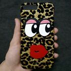 3D Bling Deluxe Shiny Leopard Sexy Lips Eye Hard Back Skin Case Cover for Phones