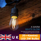 20m S14/S14 LED Festoon String Lights Garden Wedding Christmas Outdoor Indoor UK
