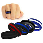1pcs His & Hers Striped Silicone Wedding Ring Band Flexible Outdoor Sport Ring
