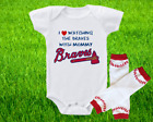 Atlanta Braves Outfit Onesie And Leggings Set Watching WIth Mommy on Ebay